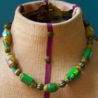 Recycled Cereal Box Necklace
