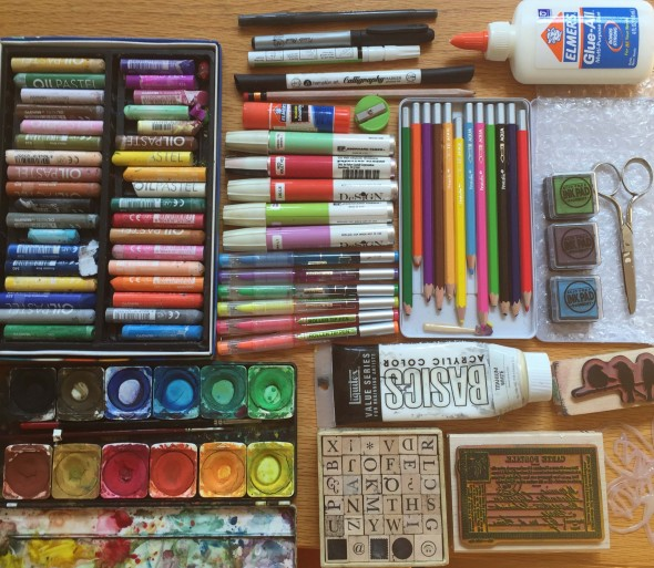 Art journal supplies