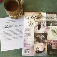 Published In Artful Blogging!