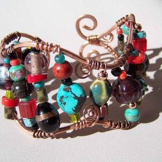 Bohemian Copper and Bead Bracelet Class